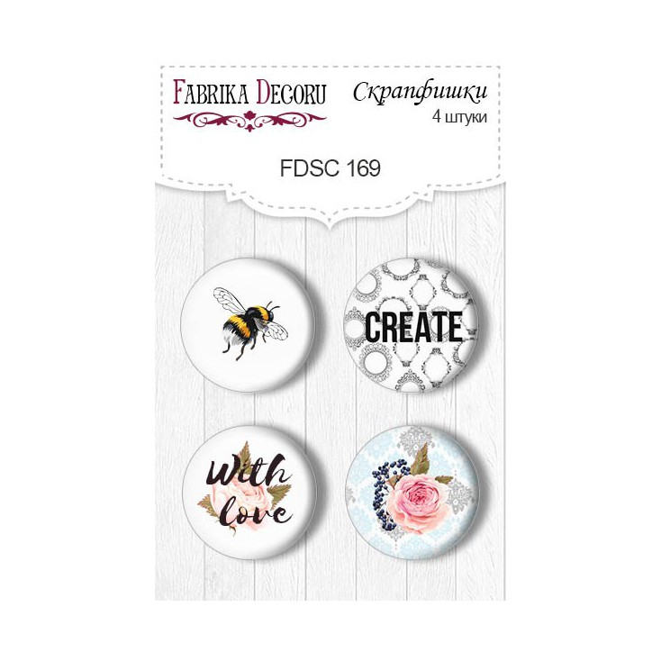 Selfadhesive buttons/badge - Fabrika Decoru - Sensual Love