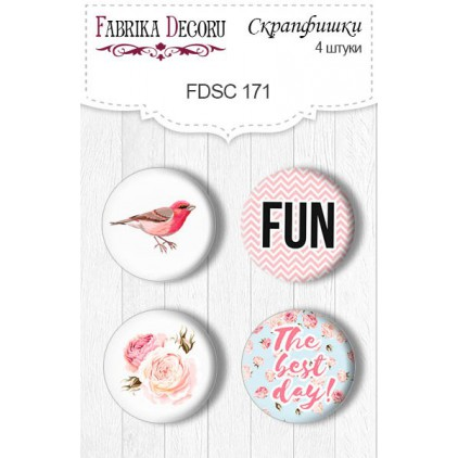 Selfadhesive buttons/badge - Fabrika Decoru - Sensual Love 171