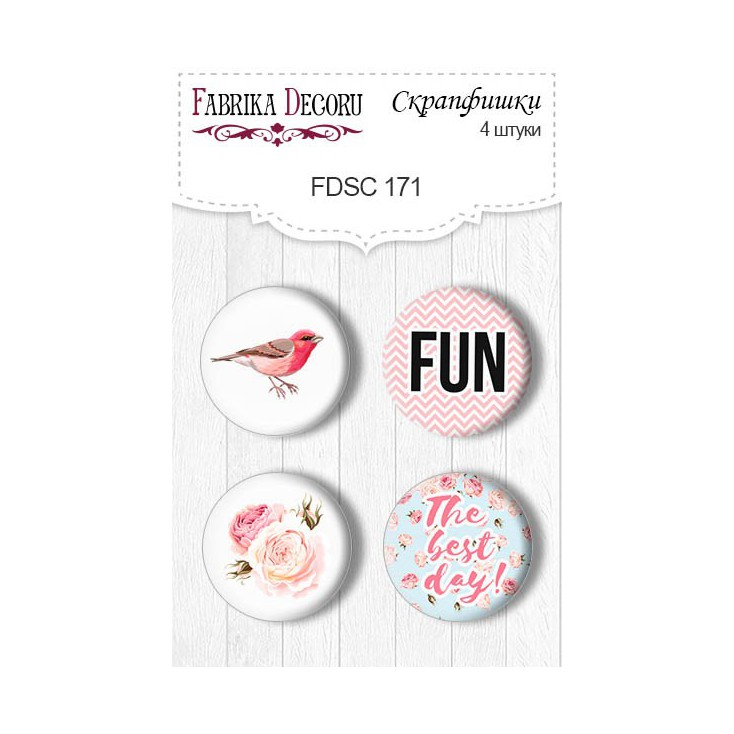 Selfadhesive buttons/badge - Fabrika Decoru - Sensual Love 02
