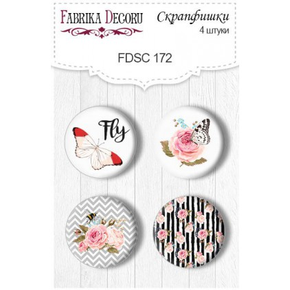 Selfadhesive buttons/badge - Fabrika Decoru - Sensual Love 172