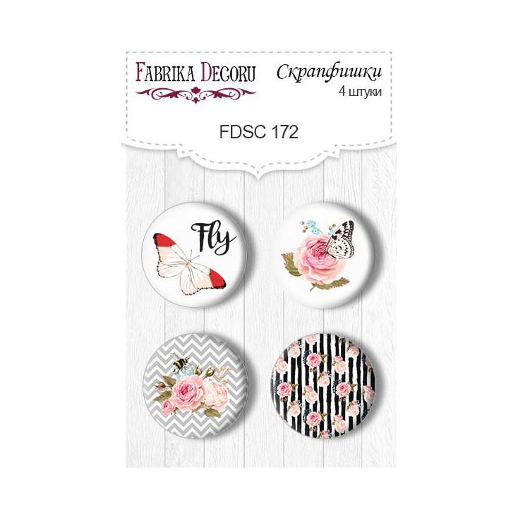 Selfadhesive buttons/badge - Fabrika Decoru - Sensual Love 01