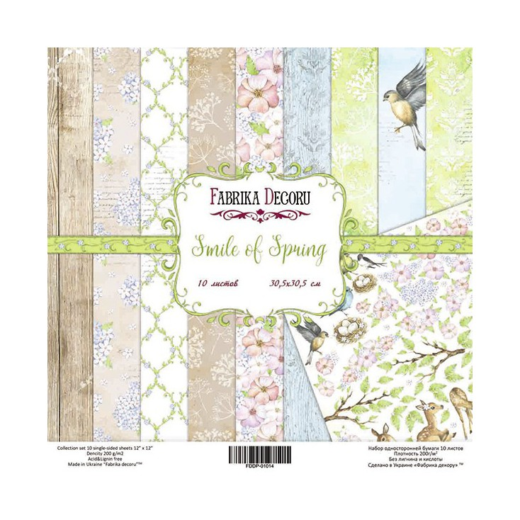 Set of scrapbooking papers - Fabrika Decoru - Smile of Spring