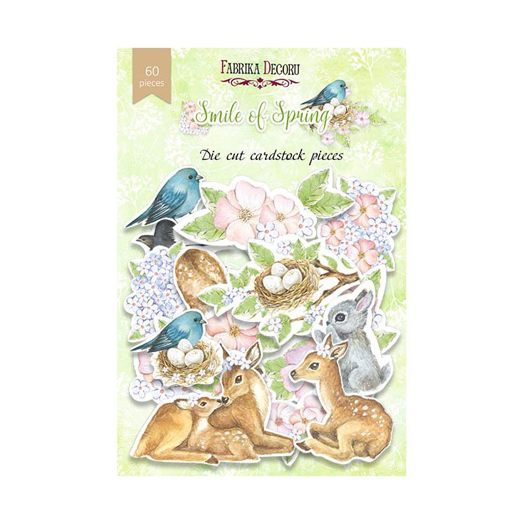 Set of die cuts - Fabrika Decoru - Smile of Spring - 6opcs