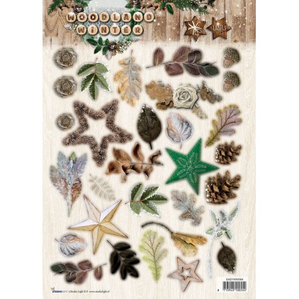 Scrapbooking paper - Studio Light - Woodland Winter 01 - Die cut sheet A4