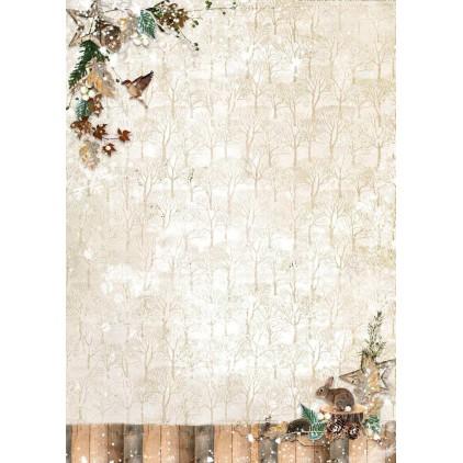 Scrapbooking paper - Studio Light - Woodland Winter WW242