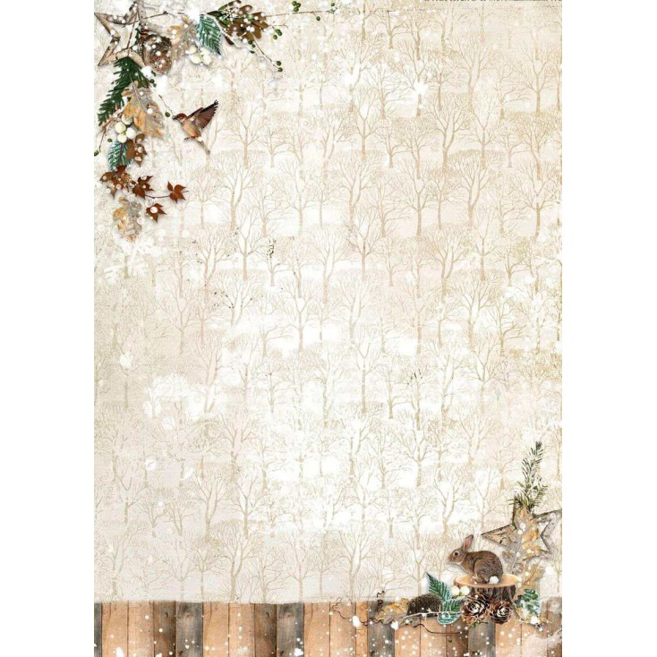 Papier do tworzenia kartek i scrapbookingu - Studio Light - Woodland Winter WW242