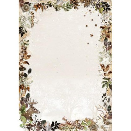 Papier do tworzenia kartek i scrapbookingu - Studio Light - Woodland Winter WW240