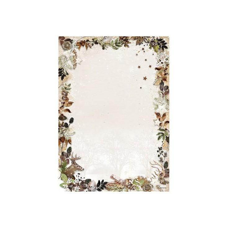Scrapbooking paper - Studio Light - Woodland Winter WW240