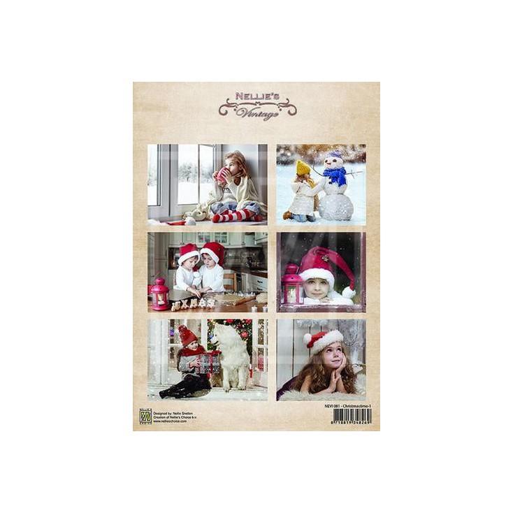 Papier do tworzenia kartek i scrapbookingu - Nellie's Choice - Christmas Time 01
