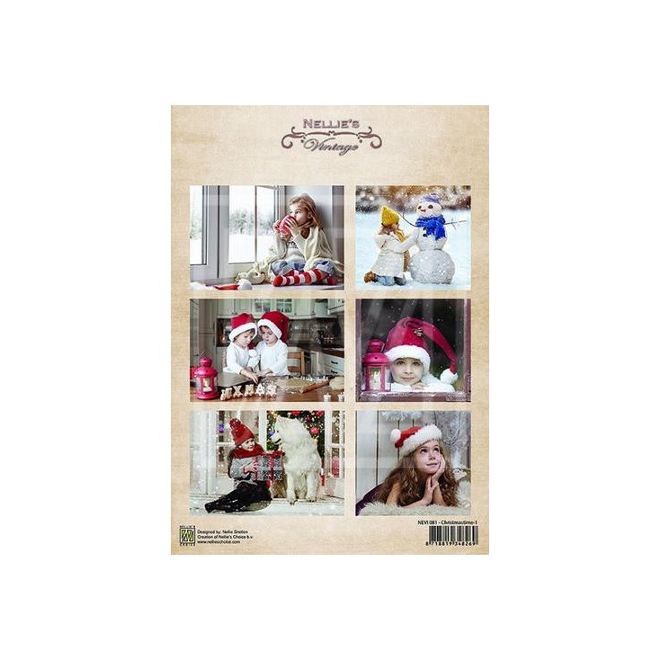 Scrapbooking paper - Nellie's Choice - Christmas Time 01