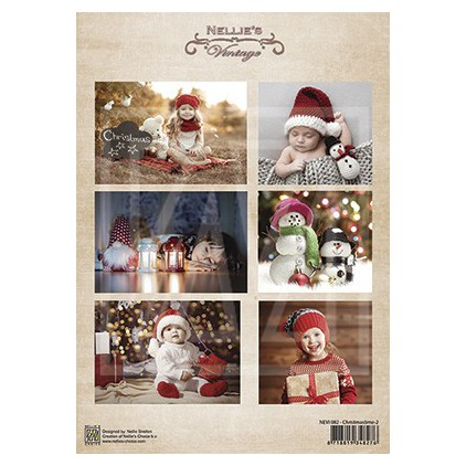 Papier do tworzenia kartek i scrapbookingu - Nellie's Choice - Christmas Time 02