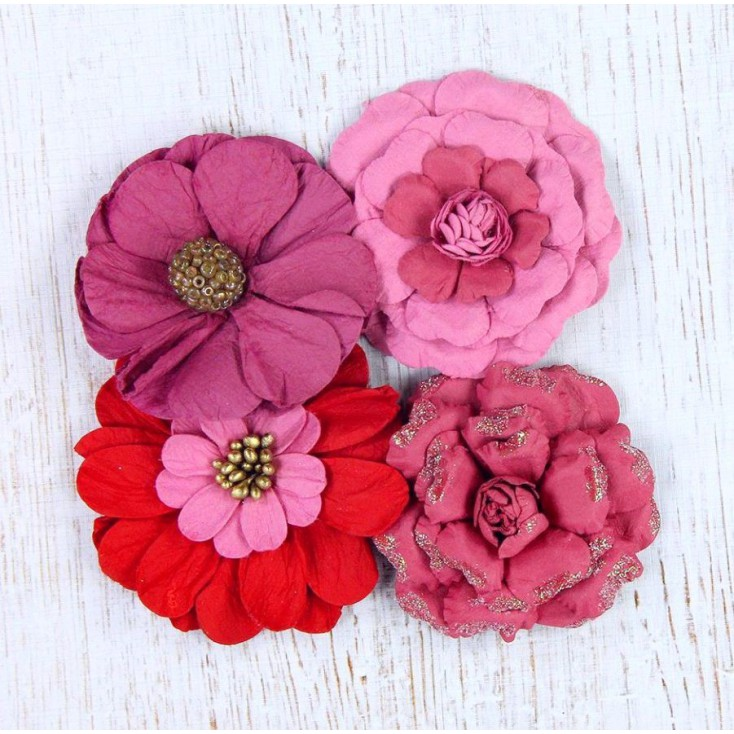 Papierowe kwiaty do rękodzieła - Camden Cottage Passion