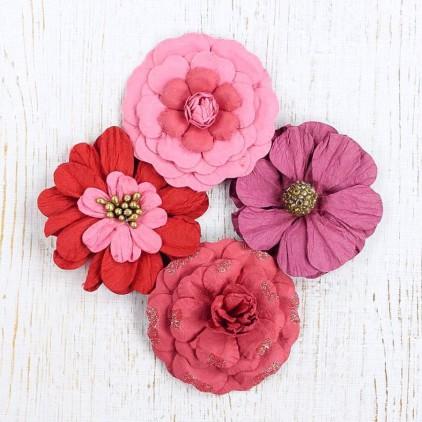 Papierowe kwiaty do rękodzieła - Camden Cottage Strawberry Fields