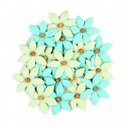 Zestaw papierowych kwiatów - Beaded Lilies Pacific Blue