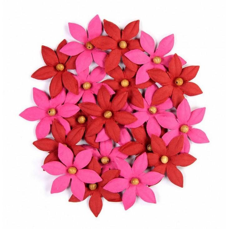 Zestaw papierowych kwiatów - Beaded Lilies Pink