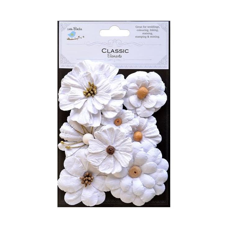 Zestaw papierowych kwiatów - Symphony Flower White