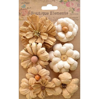 Paper flower set - Symphony Flower Shabby Chic