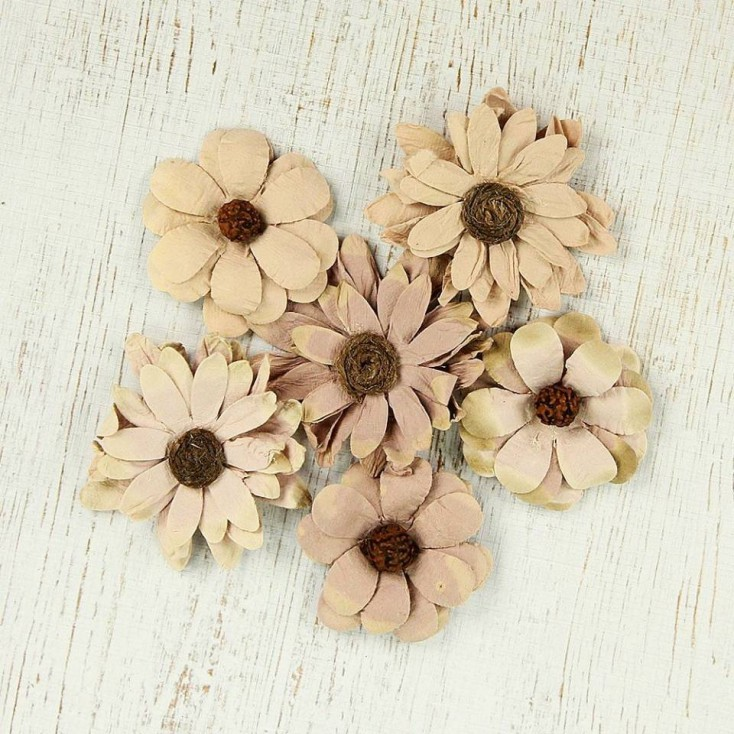 Paper flower set - Phoebe Petals Bisque