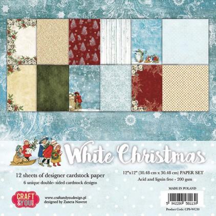 Zestaw papierów do scrapbookingu - Craft and You Design - White Christmas