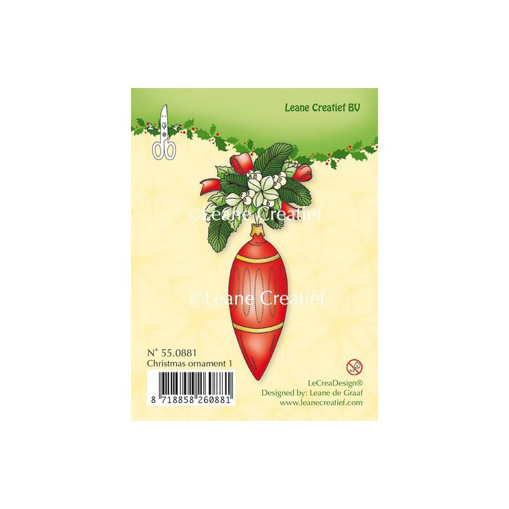 Set of clear stamps - LeCreaDesign - Christmas ornament 01
