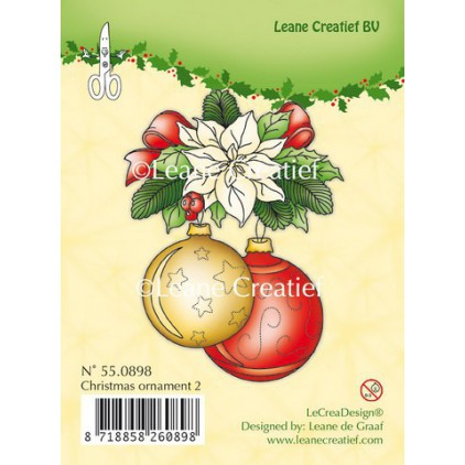 Set of clear stamps - LeCreaDesign - Christmas ornament 02
