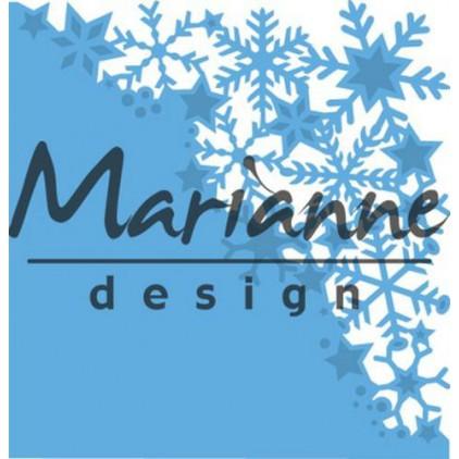 Wykrojniki do wycinania - Marianne Design Creatables LR0497 - Śnieżynkowy narożnik