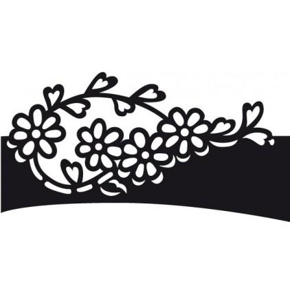 Wykrojnik brzegowy do wycinania - Marianne Design Craftables CR1270 - Kwiatuszki