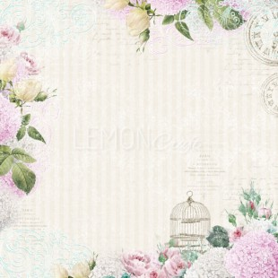 Romantic, floral pattern